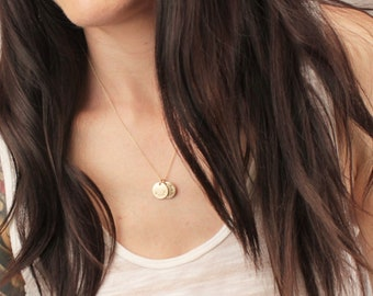 Medium Personalized Disc Necklace