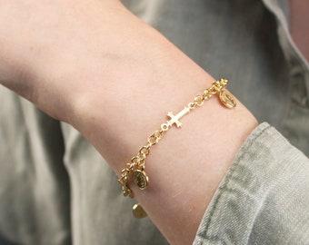 St. Benedict, Charm Bracelet & Cross Bracelet