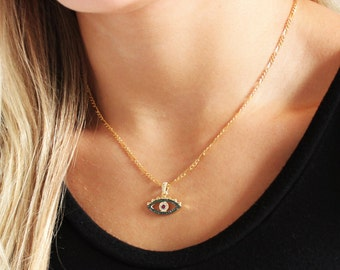Evil Eye CZ Pendant Necklace