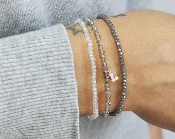 Tiny Crystal Stackable Bracelets - set of 3