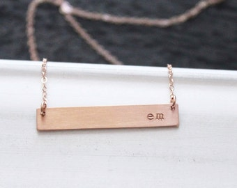 Premium Rose Gold Bar Necklace