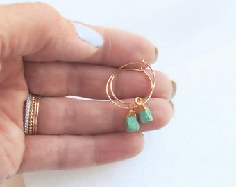 Tess - Tiny Stone Drop Earrings