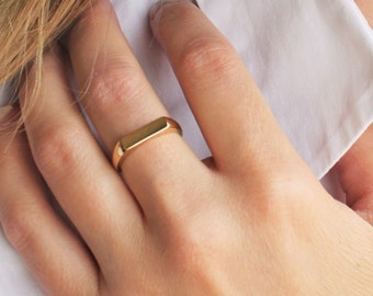 Raised Line Ring, Silver or Gold