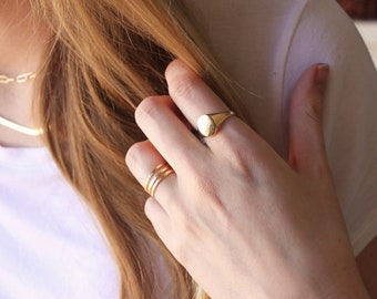 Signet Ring, Silver or Gold