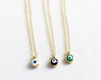 Ultra TINY Evil Eye Necklace