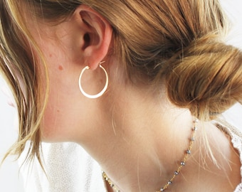 Jessie - Medium Hoop Earrings, 27mm, 14kt Gold filled