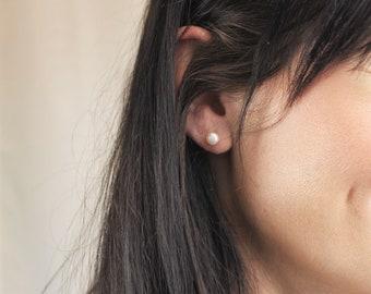 Real Pearl Stud Earrings