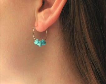 Lucy - Genuine Turquoise Earring