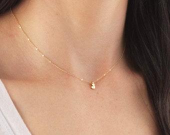 Tiny Letter Pendant Necklace