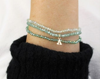 Tiny Crystal Stackable Bracelets - set of 3