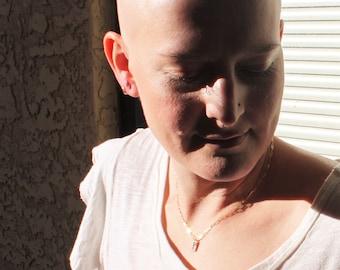 Cancer Ribbon Awareness Necklaces for Women, Cancer Survivor, 30% to Susan G Komen