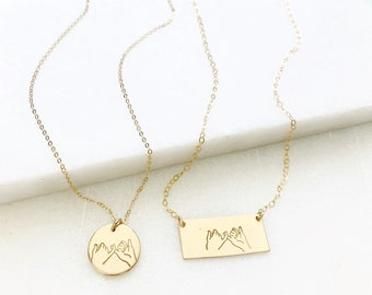 Pinky Promise Necklace, Gold or Silver