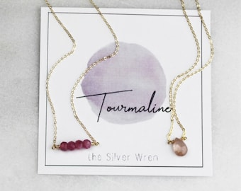 October Birthday - Tourmaline Necklace