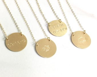 Personalized Necklace, Personalized Pendant Necklace, Necklace for Women, Personalized Jewelry, Gift for Her, Custom Name Dates Coordinates