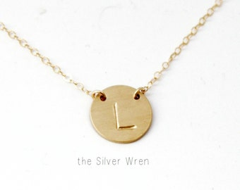 Medium Suspended Initial Necklace