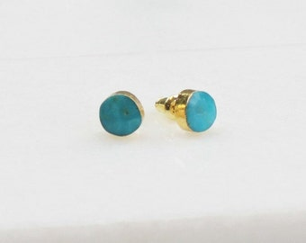 Real Turquoise Stud Earrings