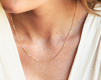 Link Chain Necklace in silver or gold, choose your length