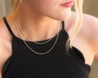 Snake Chain Necklace - Aura Collection