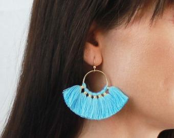 Devon - Statement Earrings, Fan Earrings