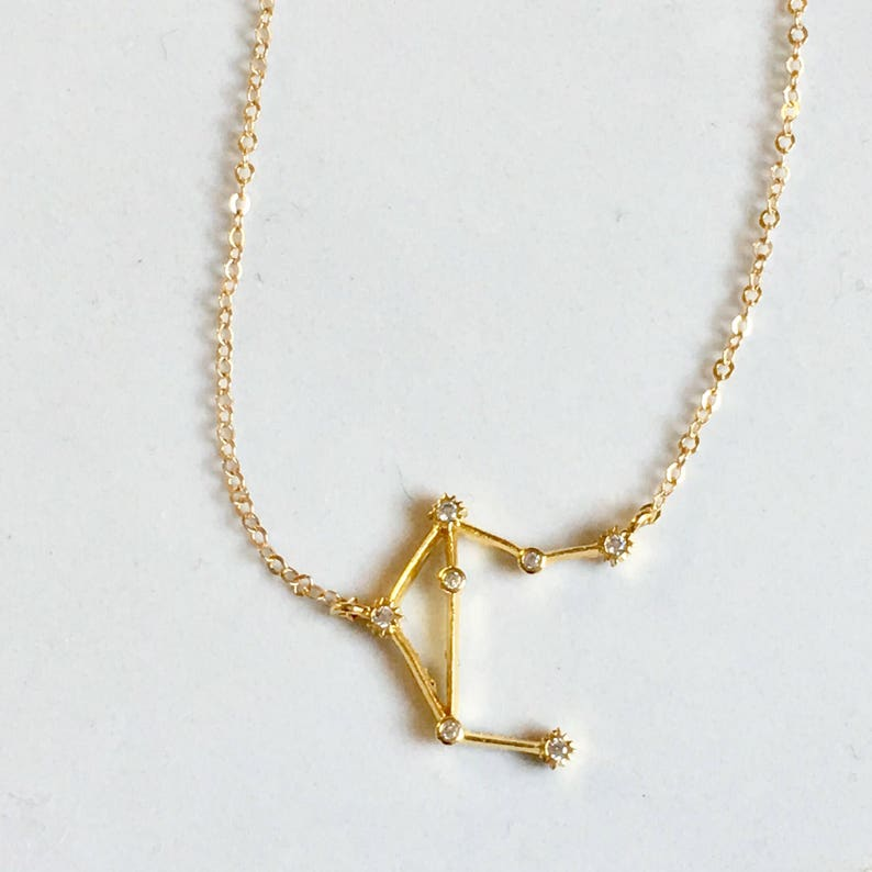 c2b4d2097 TINY Constellation Necklace Zodiac Jewelry Gift for Women   Etsy