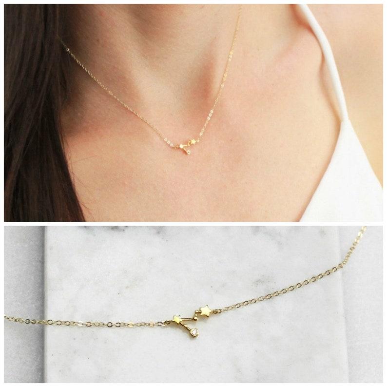 ce5eda456 TINY Zodiac Necklace Womens Birthday Gift Gift for Women   Etsy