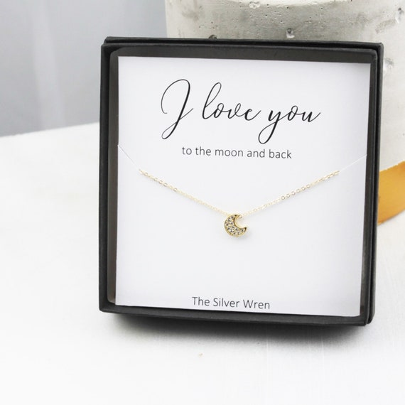 I Love Your To The Moon Gift for Her Jewelry Gift Gifts for  9060d7bea