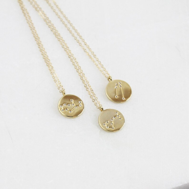 b0a03a822 Gift for Women Zodiac Celestial Constellation Necklace   Etsy