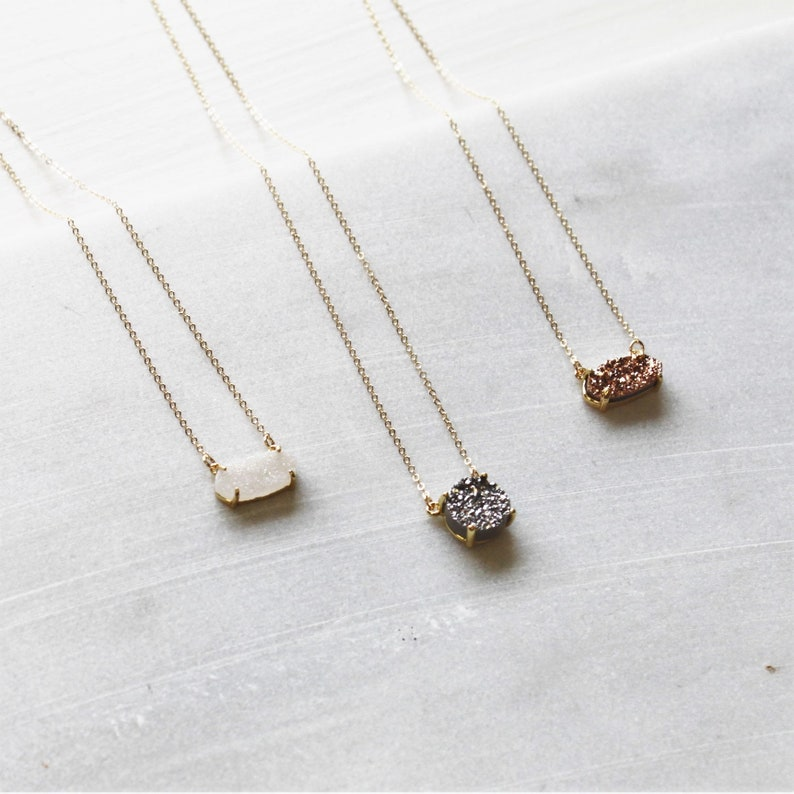 Gifts For Her Necklaces Women Druzy Necklace Petite
