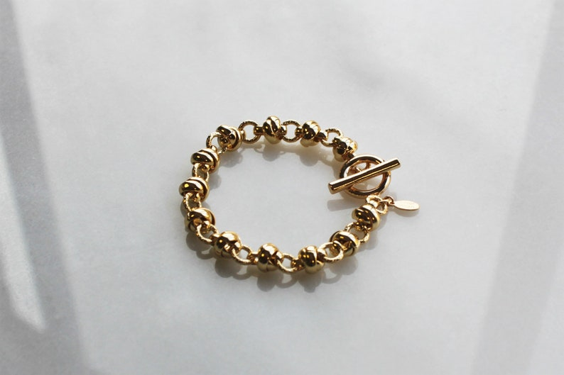 Aura The Silver Wren Gold Bracelet Stackable Bracelets Chunky Thick Chain Bracelet,Bracelet Bracelets for Women Gifts for Her Jewelry