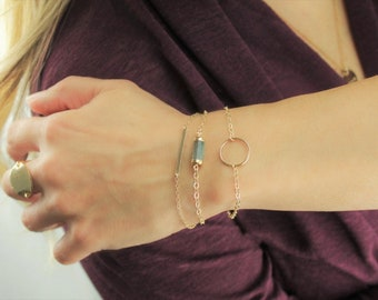 DAINTY Gold Ring Bracelet
