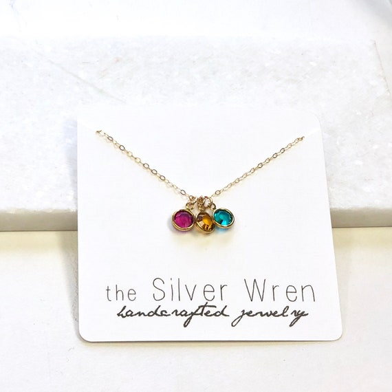 Handmade Delicate Necklace Drop Into Mother and Child Silver Necklace for Women Zircon Stone NUR-4232 Dainty Necklace Tiny Necklace