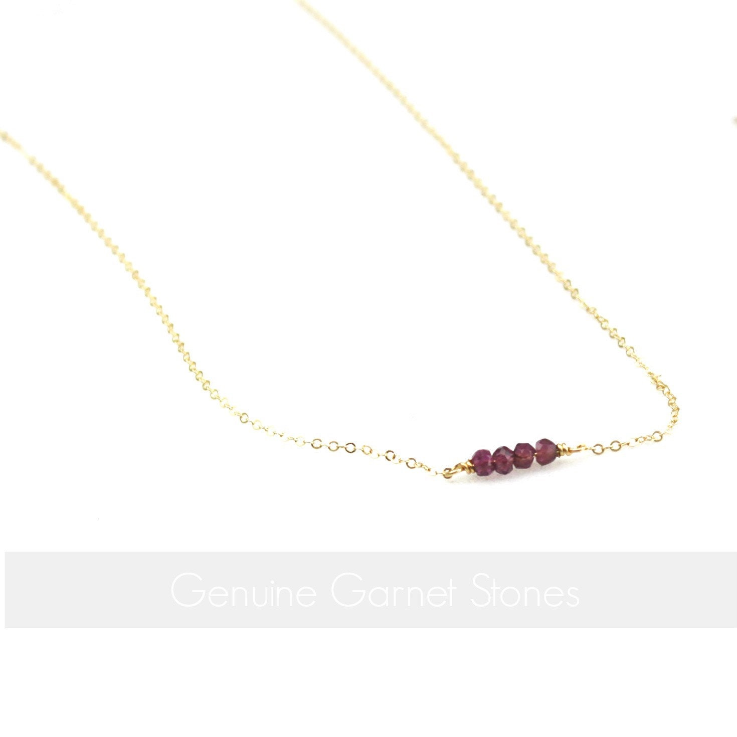Gifts Women January Birthday Birthstone The Silver Wren Jewelry Necklace Gift For Her Garnet