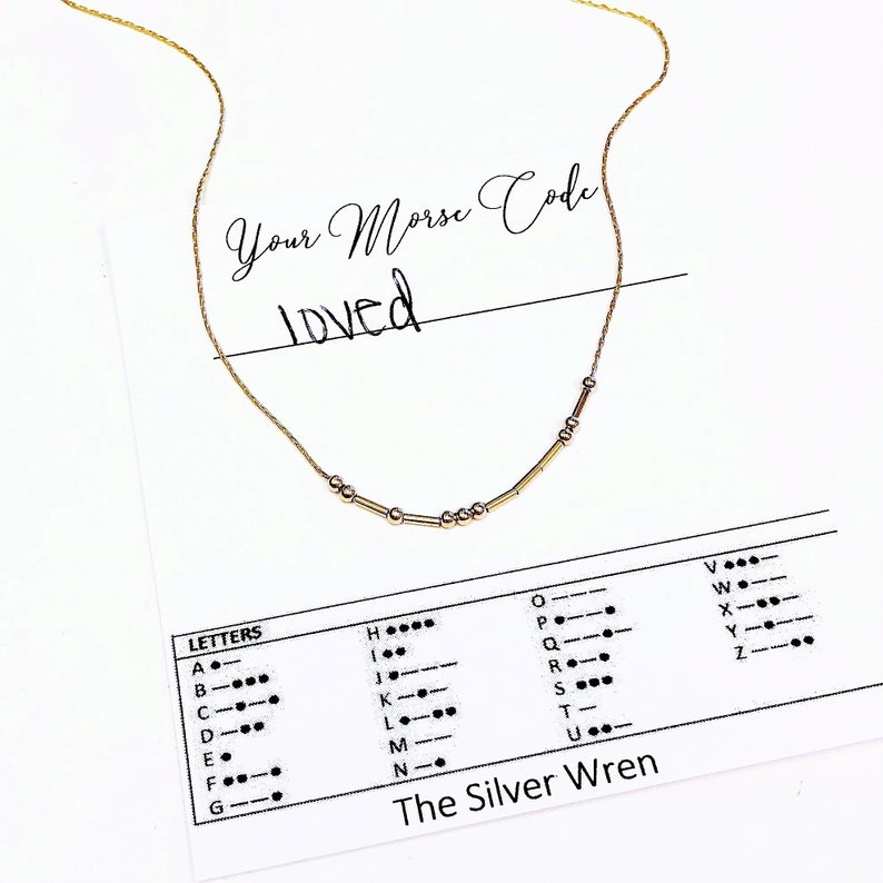 Gift for Mom Morse Code Necklace Personalized Jewelry Bff Girlfriend Gift Sister Custom Morse Code Grandma Gift Gift for Her
