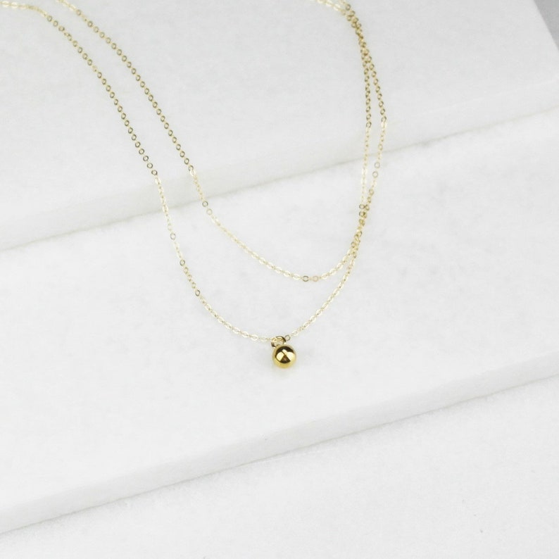Gift for Her Layered Ultra Dainty Necklace set of 2 Minimal Jewelry Gifts for Women Jewelry Gift Gold Necklaces Minimal Necklace