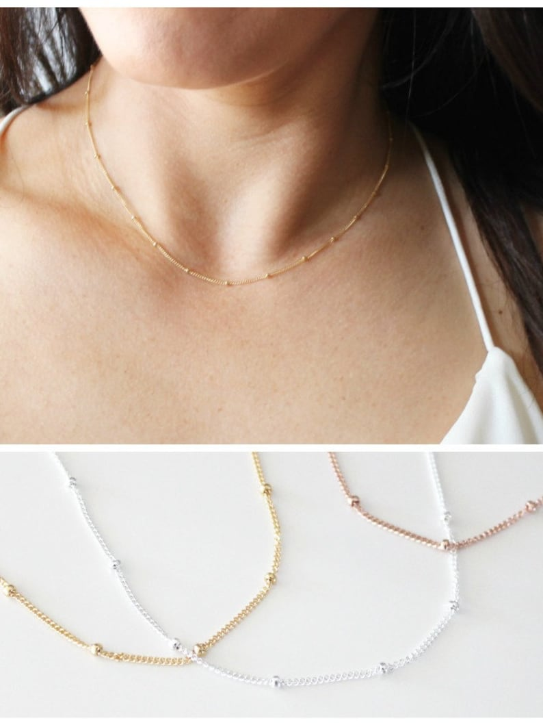 Dainty Necklace Gold Necklace Simple Necklace Layering image 0