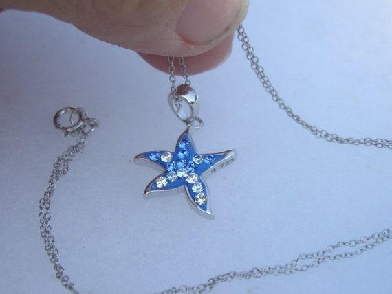 Pretty Sterling 925 Swarovski Crystal Star Pendan… - image 2