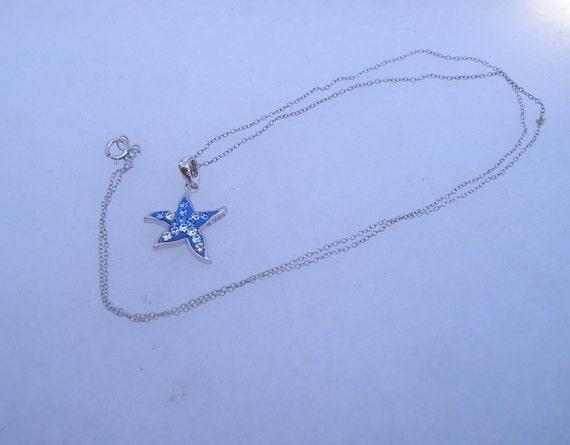 Pretty Sterling 925 Swarovski Crystal Star Pendan… - image 3