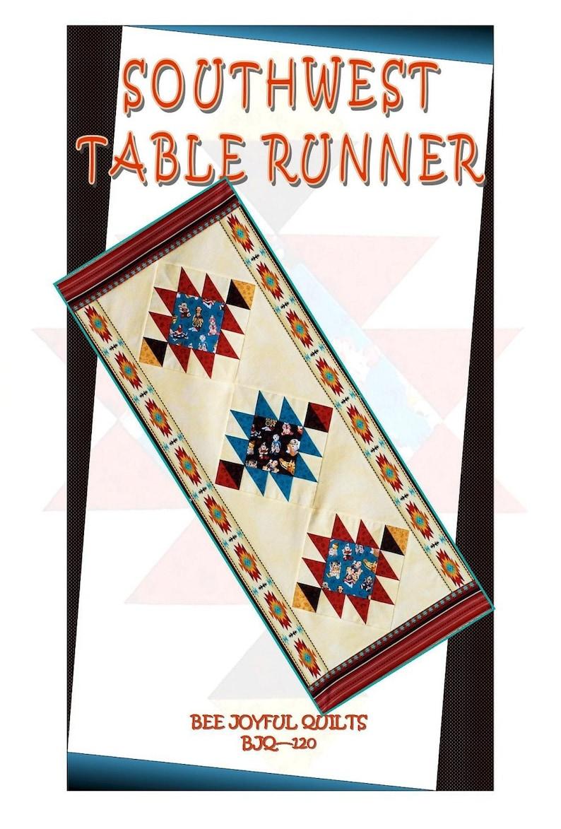 SOUTHWEST Table Runner Pattern  B J Q 120  Printable image 0
