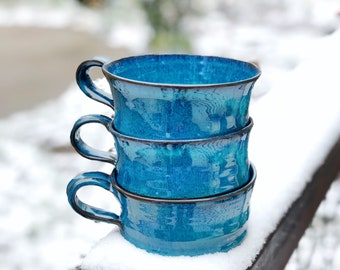 Soup Cup in Turquiose FREE shipping