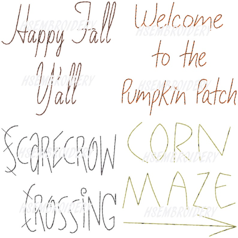 photograph about Scarecrow Pattern Printable named Autumn Wording #2 Scarecrow Corn Maze Delighted Drop 4 Models Redwork Primitive Hand Schery Embroidery Habit Doodle EPattern Structure