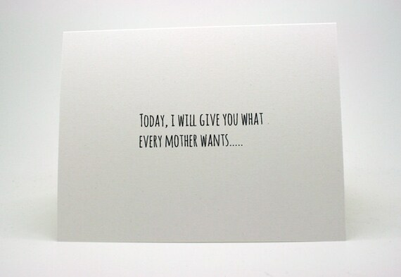 Funny Mothers Day Card Funny Mom Birthday Card Etsy