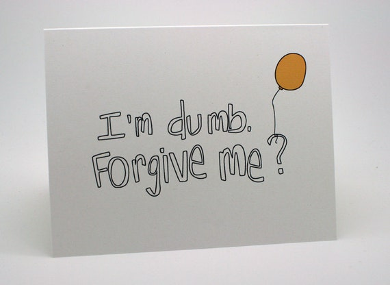 Im sorry card balloon yellow im dumb etsy image 0 m4hsunfo