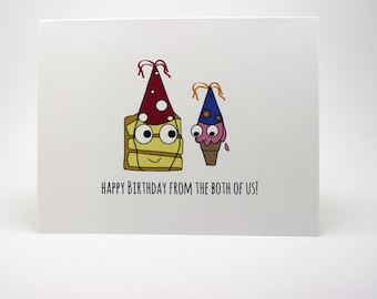 Funny Birthday Card- Happy Birthday From The Both Of Us