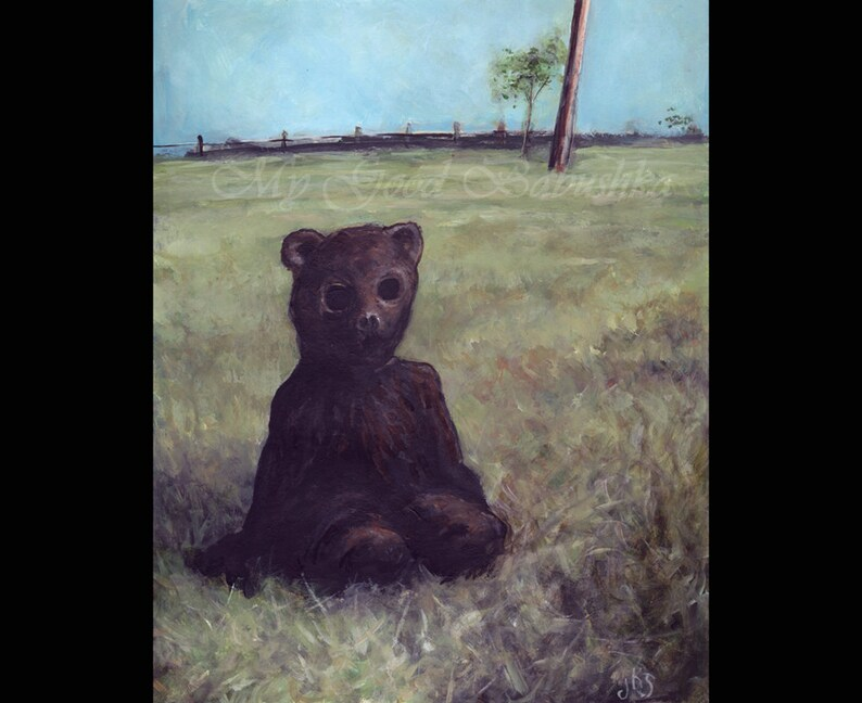 The Bear Suit Original Painting Costume Mask Bear Teddy Etsy