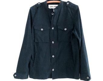 Vintage Men's Navy Blue Cotton Field Jacket