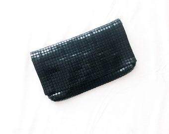 Vintage 80s Flexible Square Plastic Mesh Shoulder Bag Clutch