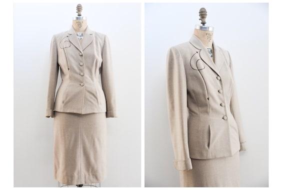Vintage 40s Suit | Vintage 1940s skirt suit | 40s