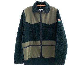Vintage Men's Turima Sweden Forest Green Plush Fleece Field Jacket XL