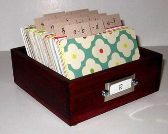 Rolodex etsy address card filediumlodexding guest book alternative address cardsanizer card colourmoves