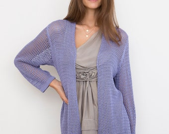 Bamboo Knit Cover-Up: Periwinkle